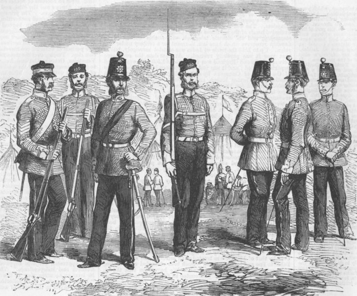 Associate Product CANADA. 100th(Prince of Wales Royal Canadian) Regt, antique print, 1858