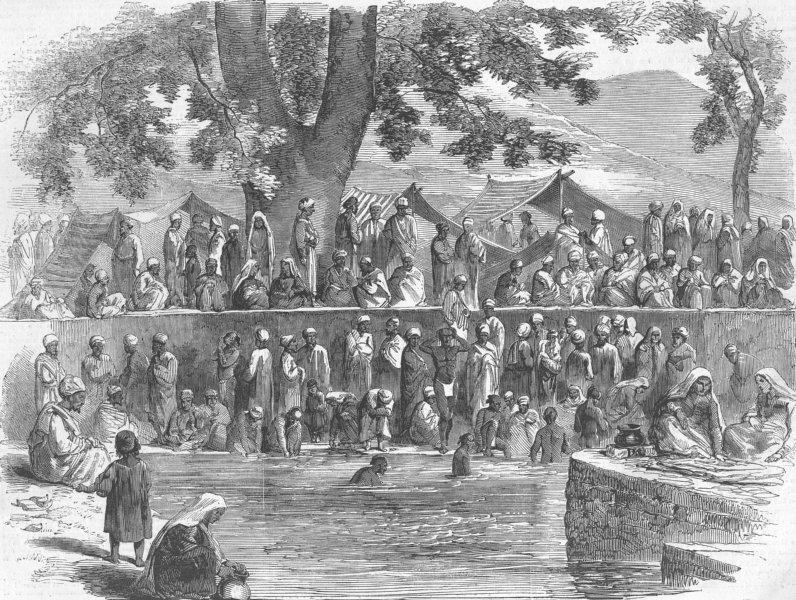 Associate Product INDIA. Hindu Fair, Kashmir, antique print, 1858