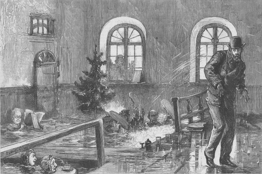 Associate Product SWITZERLAND. Hats off-Private Baths, Leukerbad, antique print, 1874