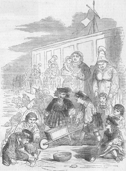 Associate Product CHILDREN. Mossoo at the Seaside, antique print, 1862
