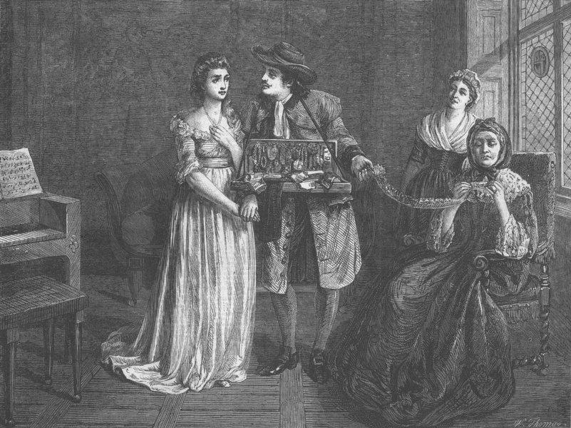 Associate Product ROMANCE. Love's Disguise, antique print, 1866