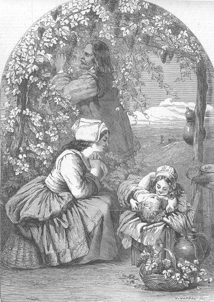 Associate Product CHILDREN. Affection, antique print, 1853