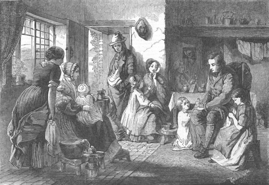 Associate Product CHILDREN. Royal Academy. Awakened Conscience, antique print, 1853