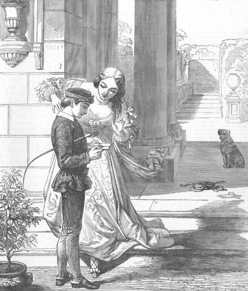 Associate Product CHILDREN. The Page, antique print, 1853