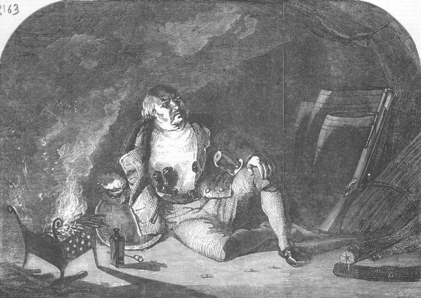 Associate Product NETHERLANDS. Dirk Hatteraick, Cave, antique print, 1853