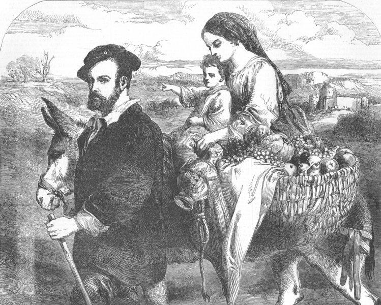 Associate Product FAMILY. Spanish landscape & figures, antique print, 1853