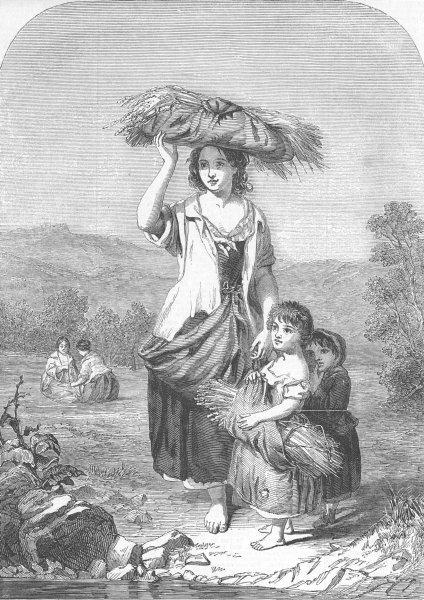 Associate Product CHILDREN. Rustics, antique print, 1853