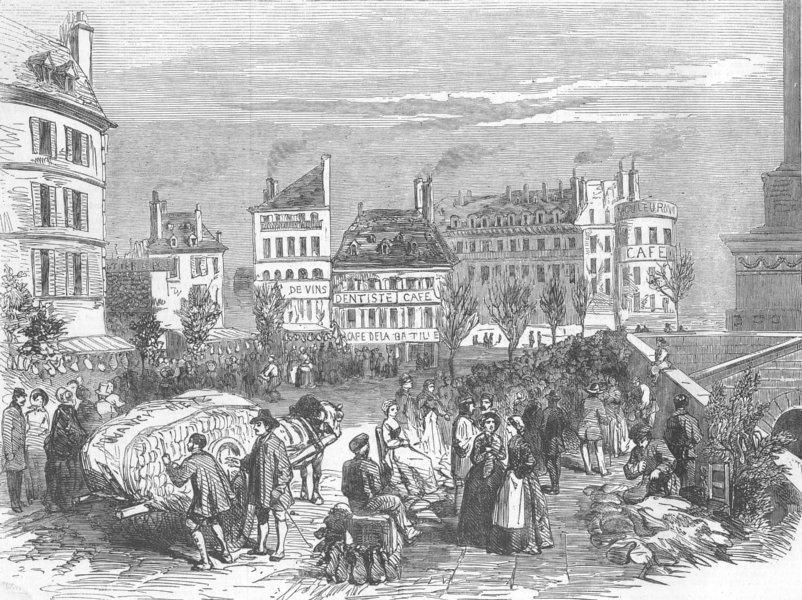 FRANCE. Ham Fair, Paris. Easter , antique print, 1853