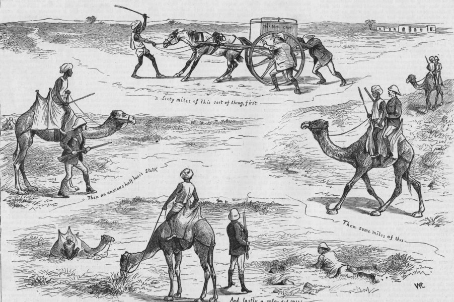 Associate Product INDIA. Day's ravine deer stalking, antique print, 1885