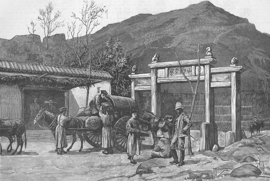 Associate Product CHINA. Boundary of Shan-si & Pe-chi-li provinces, antique print, 1883