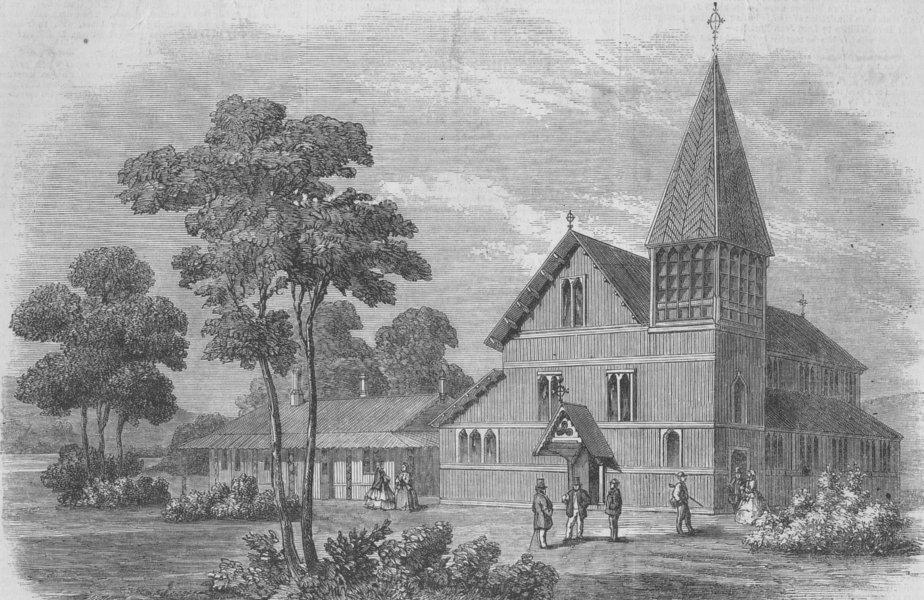 Associate Product WASHINGTON DC. Bishop of New Columbia church, house, antique print, 1860