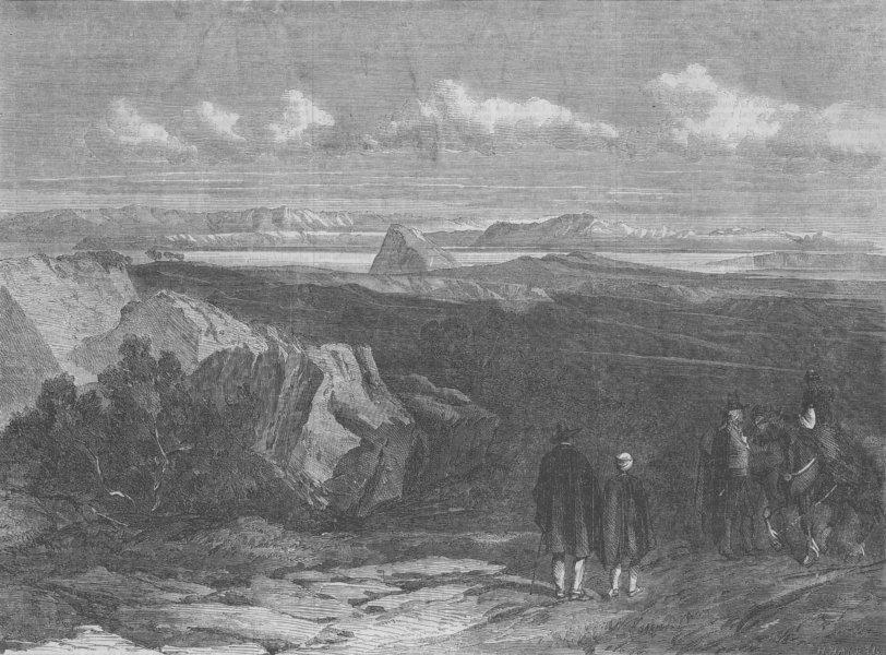 Associate Product MOROCCO. Ceuta & Gibraltar, antique print, 1859