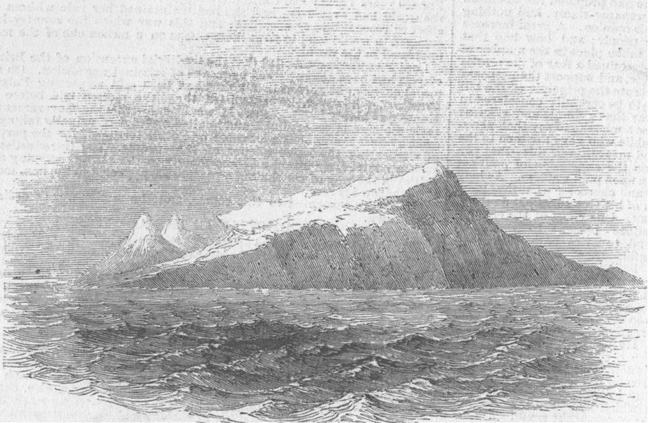 INDIAN OCEAN ISLANDS. Grey's Island, antique print, 1855