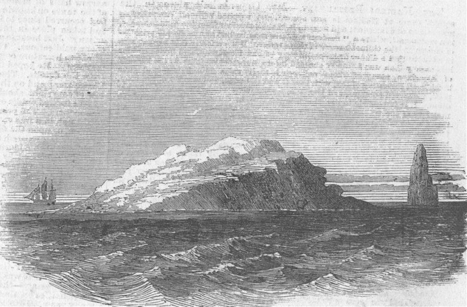 Associate Product INDIAN OCEAN ISLANDS. Dunn's Island, antique print, 1855
