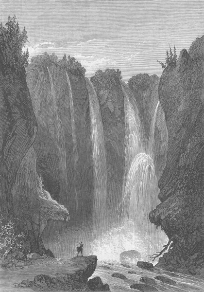 Associate Product VIRGINIA. Civil War. Peyton falls, Alleghany Co , antique print, 1864