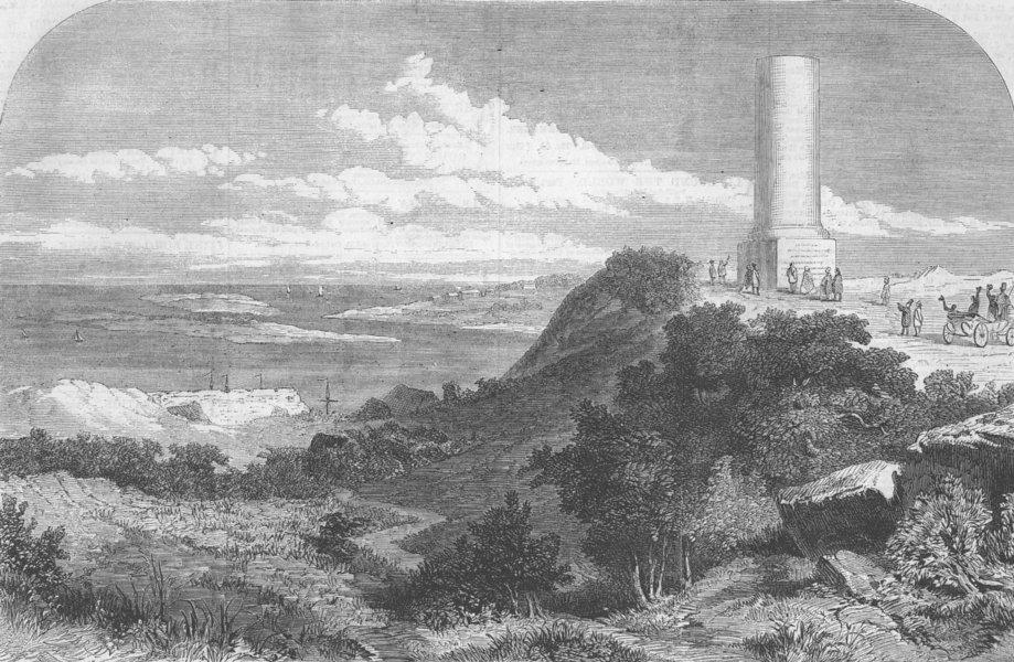 Associate Product FRANCE. William Conqueror monument, Dives, Normandy, antique print, 1861