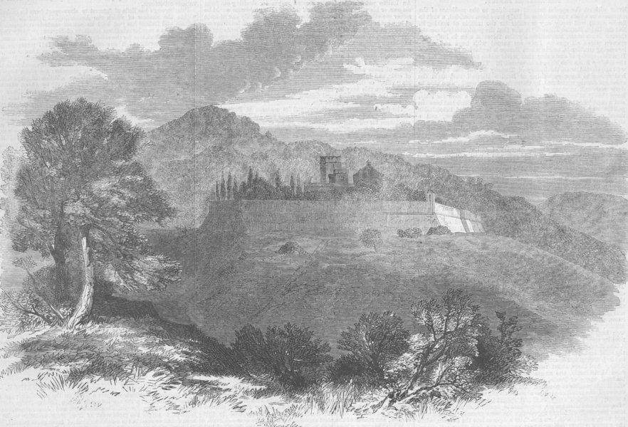 Associate Product ITALY. Broglio, ancestral seat of Ricasoli Family, antique print, 1861