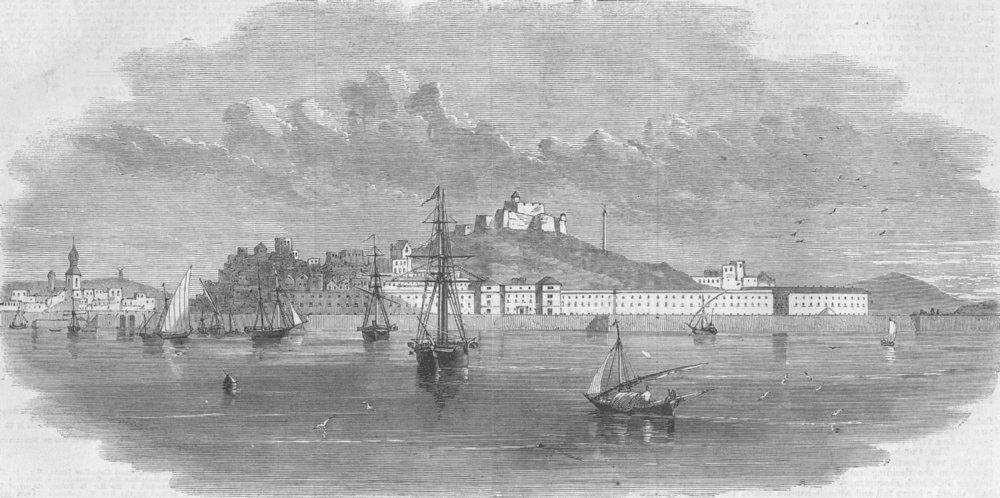 Associate Product SPAIN. Cartagena, Spain, antique print, 1860