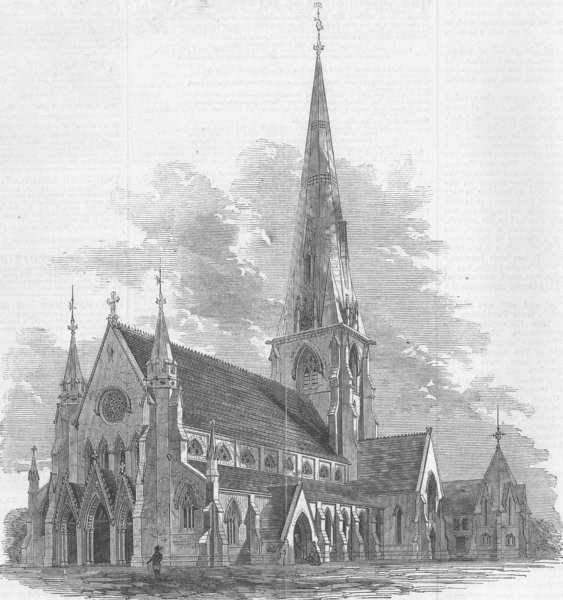 Associate Product CANADA. New Cathedral, Montreal. Christchurch , antique print, 1860