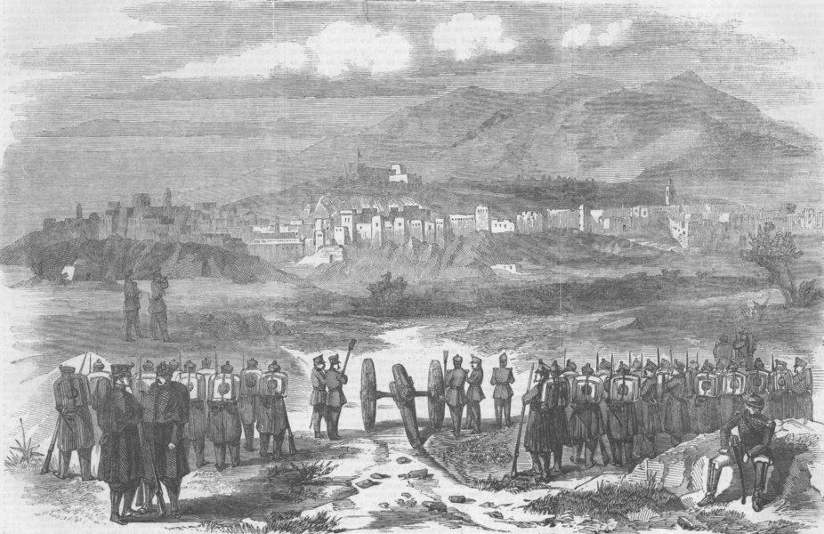 Associate Product MOROCCO. Spanish-Moroccan War. Tetuan. , antique print, 1860