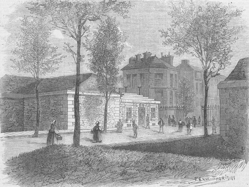 FRANCE. Paris New Barriers. Montrouge, 1 of, antique print, 1860