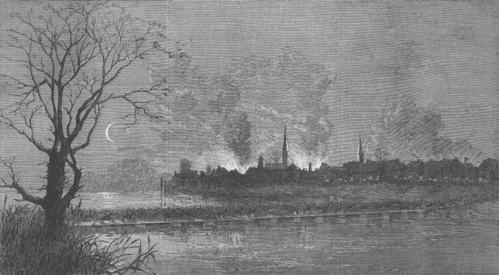 Associate Product VIRGINIA. Civil War. Crossing Rappahannock, antique print, 1863