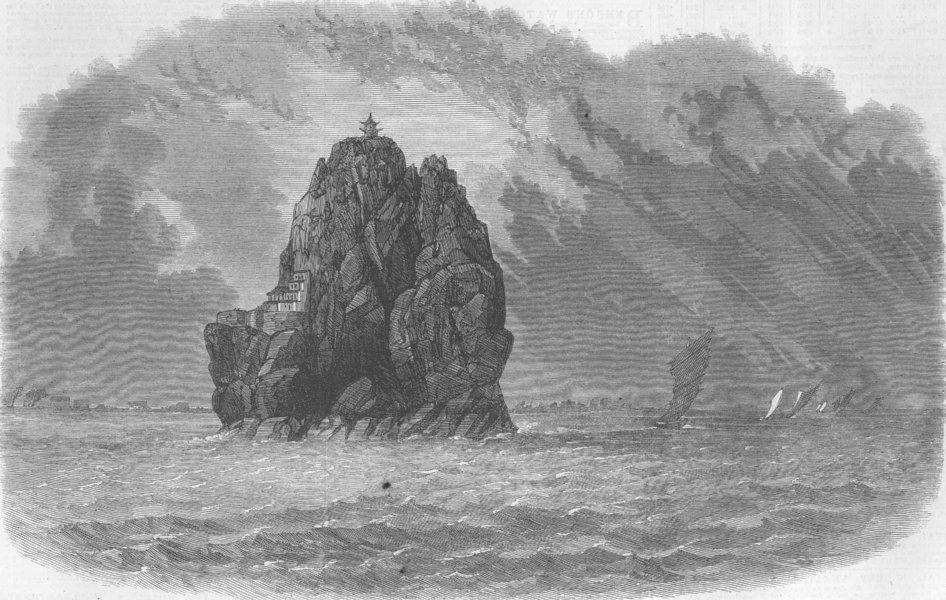 Associate Product CHINA. Little Orphan Rock, river Yang-Tze-Kiang, antique print, 1864