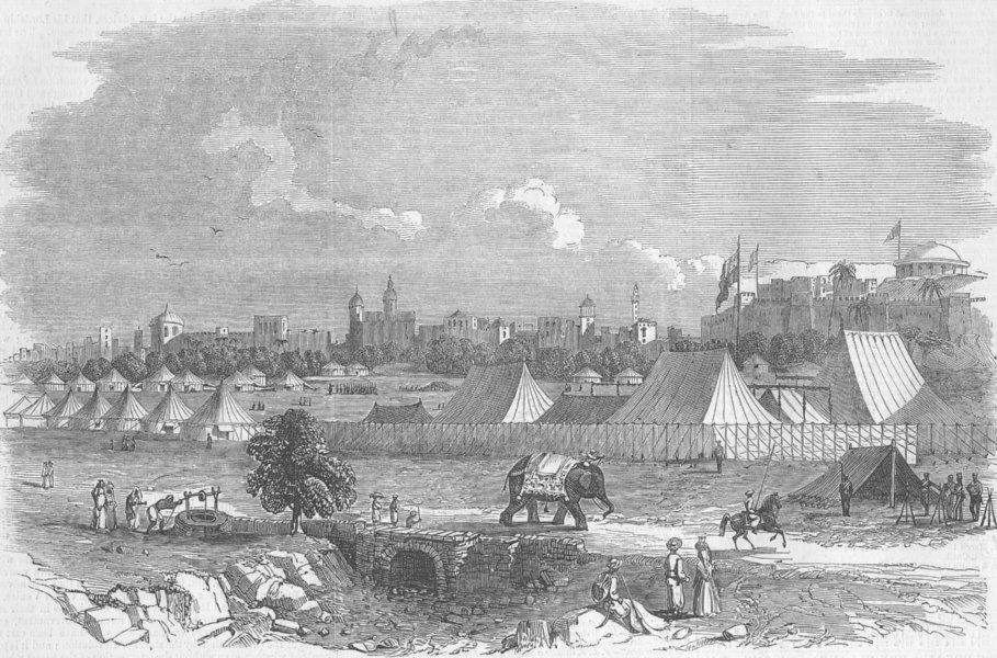 Associate Product INDIA. Camp of Gov-General, Delhi, antique print, 1864