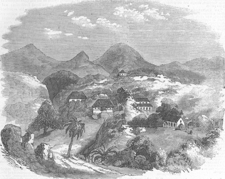 Associate Product INDIA. Mount Aboo, Mutiny, antique print, 1857