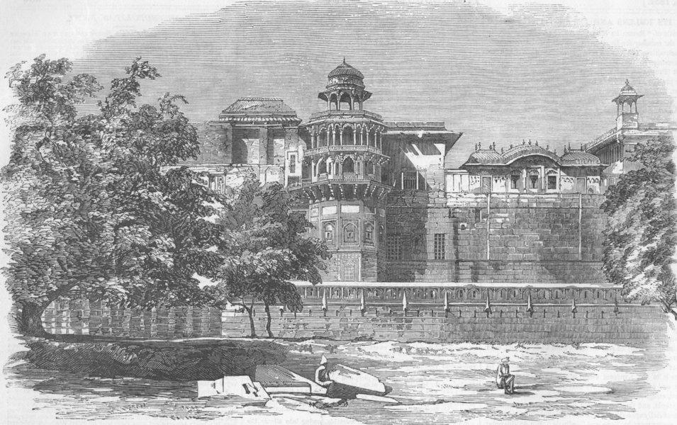 Associate Product INDIA. Mutiny-Ft, Agra. , antique print, 1857
