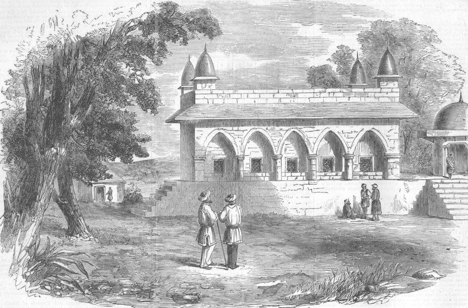 Associate Product INDIA. Hall of Justice, Delhi, antique print, 1857