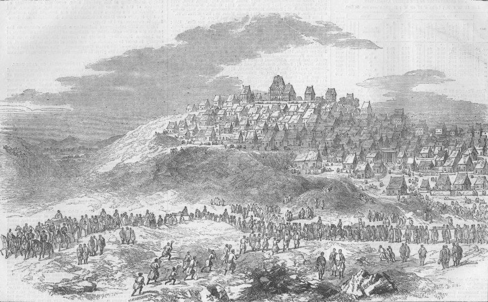 Associate Product MADAGASCAR. Antananarivo, parade of Prince Royal, antique print, 1858