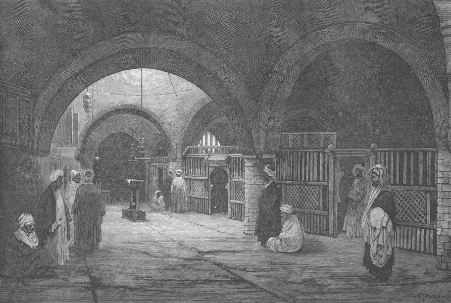 Associate Product EGYPT. Coptic Church St George, Bellianeh, antique print, 1882