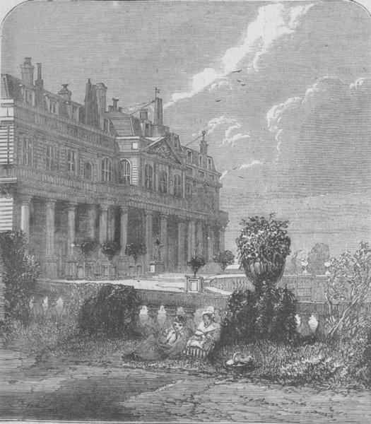 Associate Product FRANCE. Château de St-Cloud. garden front, antique print, 1870