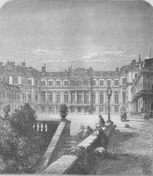 Associate Product FRANCE. Château de St-Cloud. Ct, antique print, 1870