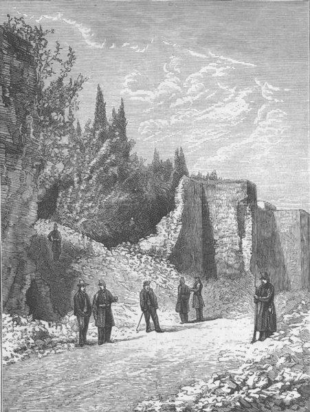 Associate Product ITALY. Italians, Rome. Breach, wall nr Porta Pia, antique print, 1870