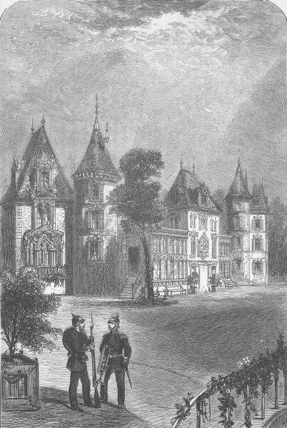 Associate Product FRANCE. Chateau of Bellevue, antique print, 1870