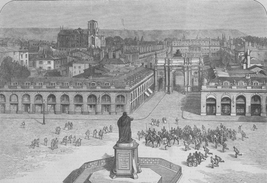 Associate Product FRANCE. Place Stanislas, Nancy, antique print, 1870
