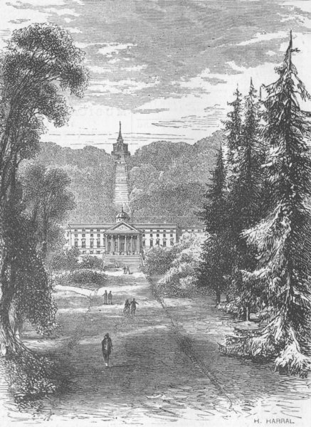Associate Product GERMANY. Wilhelmshöhe, Napoleon House. Riesenschloss, antique print, 1870