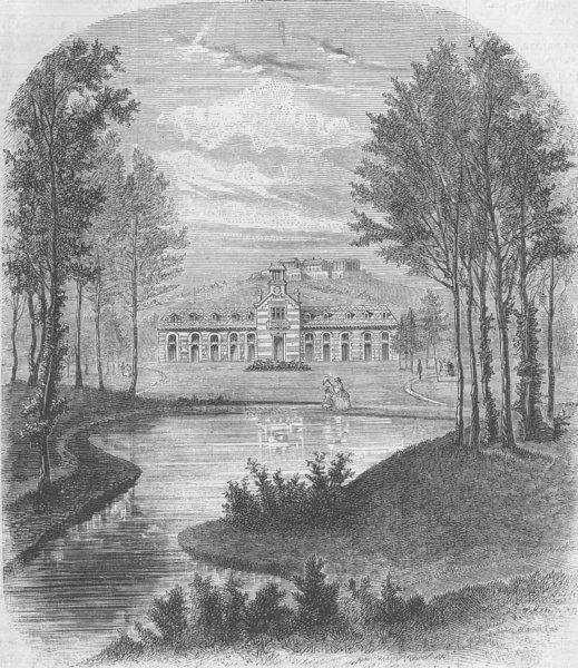 Associate Product FRANCE. New garden of Acclimatisation, Paris, antique print, 1860