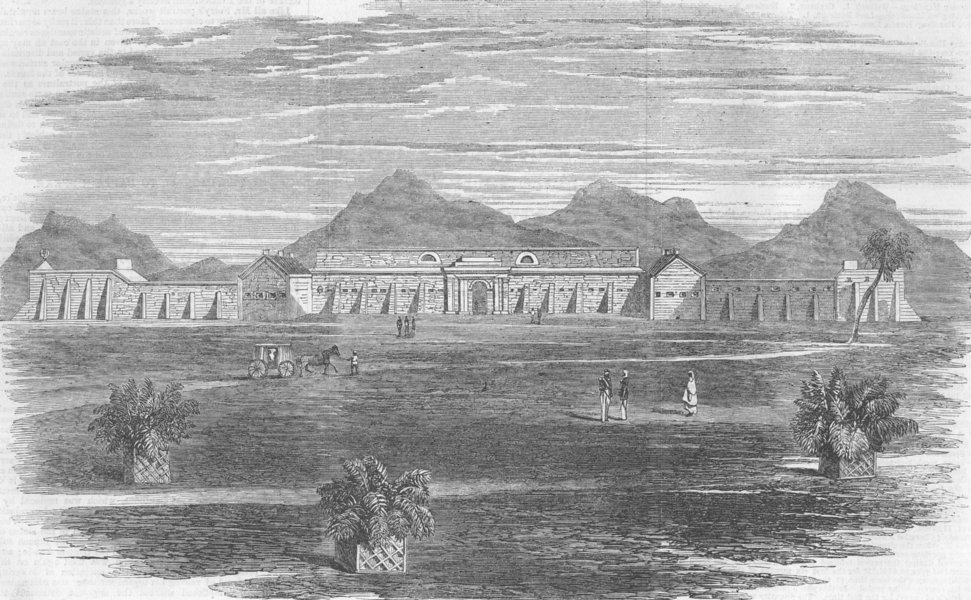 Associate Product INDIA. Mhow. Ft, antique print, 1863