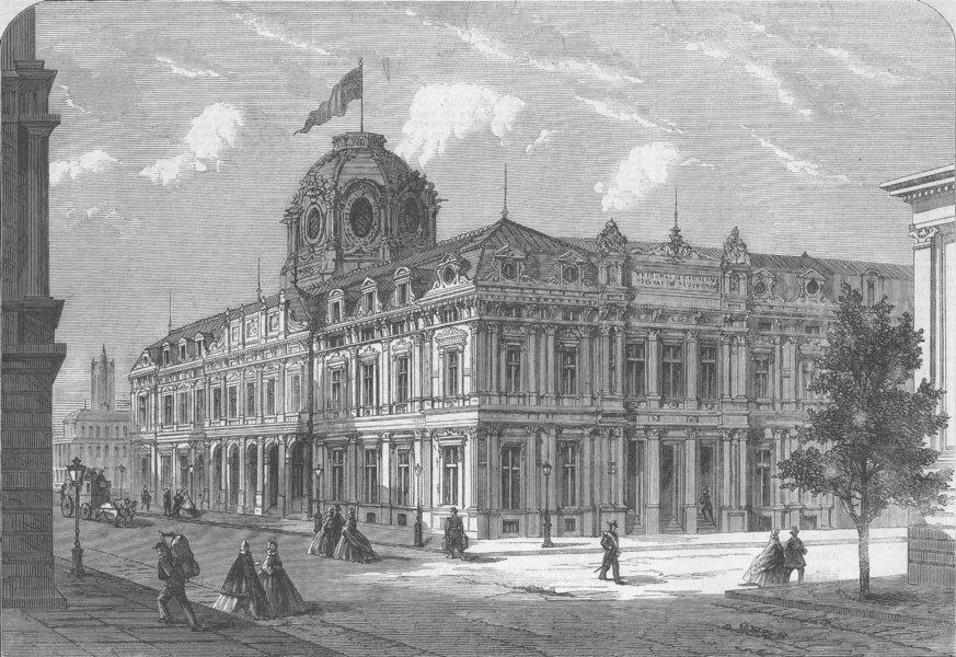 Associate Product FRANCE. New Tribunal of Commerce, Paris, antique print, 1863