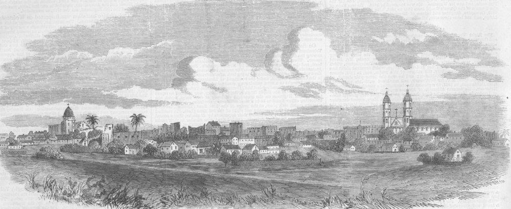 Associate Product MEXICO. Matamoras , antique print, 1863