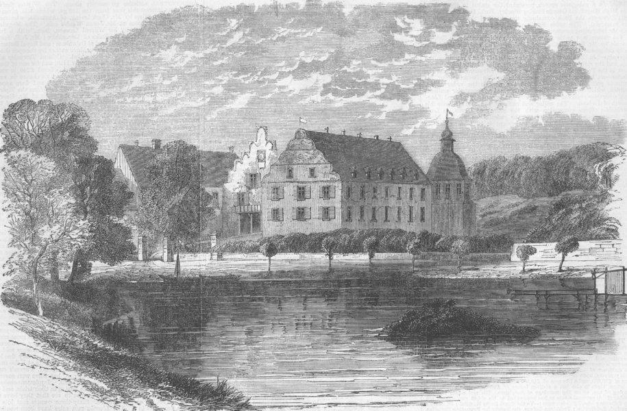Associate Product GERMANY. Kranichstein, near Darmstadt, antique print, 1863