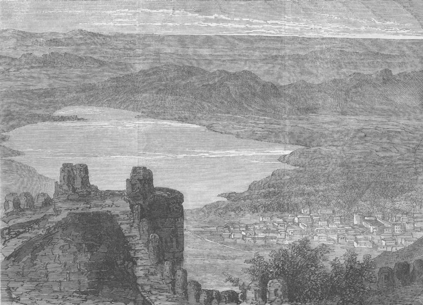 Associate Product INDIA. Ajmer from hill of Taragurh, antique print, 1863