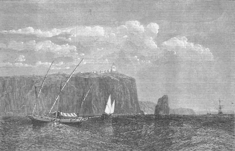 Associate Product PORTUGAL. Cape St Vincent, antique print, 1863