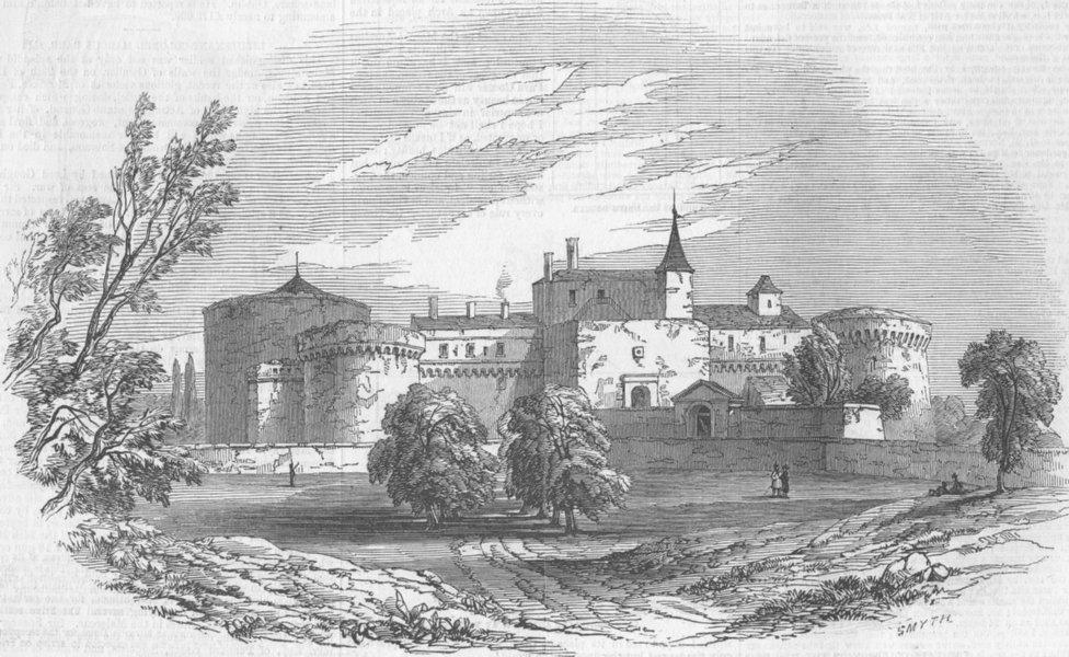 Associate Product FRANCE. The Château de Ham, antique print, 1846