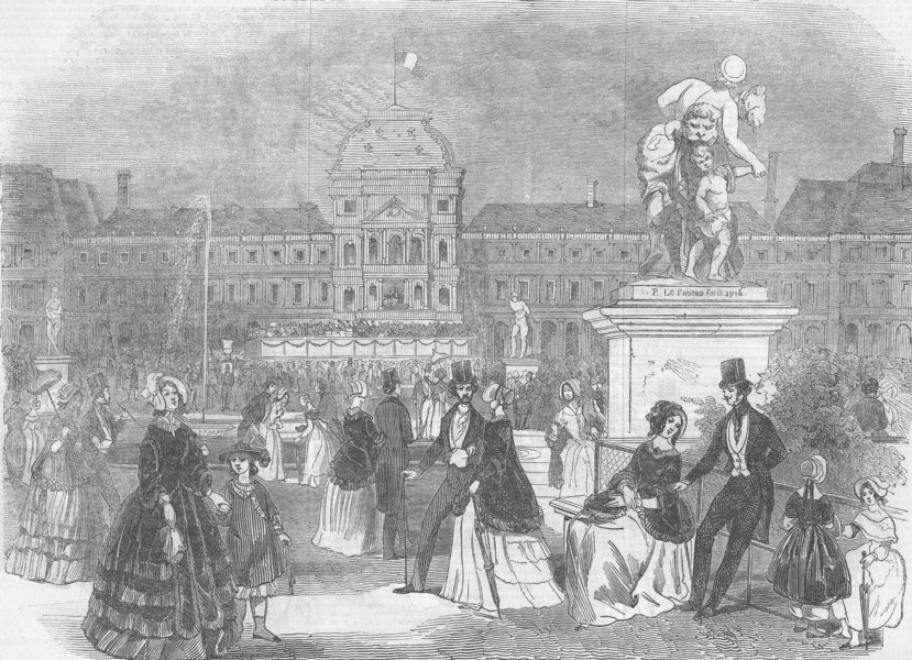 Associate Product FRANCE. King Louis Philippe, Tuileries, antique print, 1846