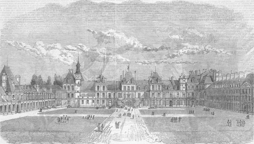 Associate Product FRANCE. Farewell Ct, Fontainebleau, antique print, 1846