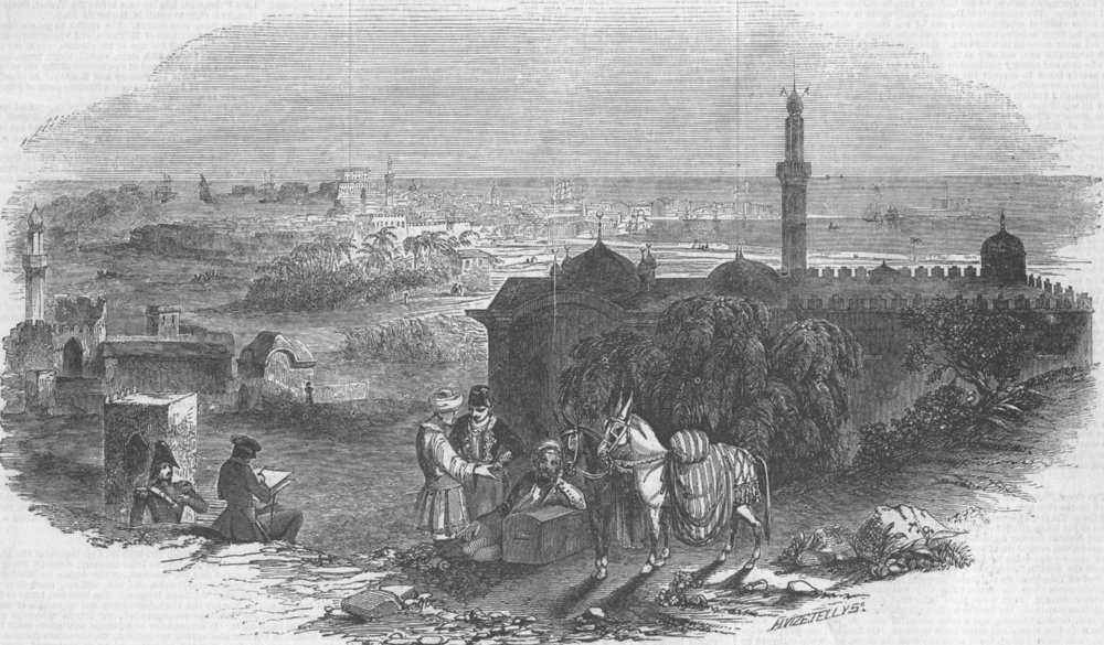 Associate Product EGYPT. Foreign corn ports, Alexandria, antique print, 1846